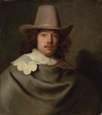 Portrait of Abraham Velters (1603-1690), half-length, in a grey cloak and lace collar, wearing a hat
