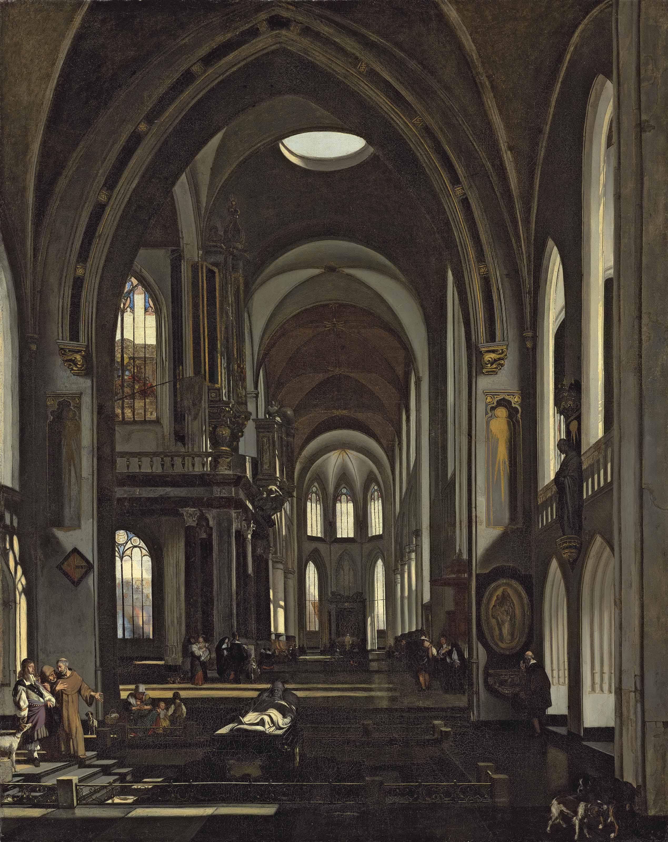 The interior of a catholic church