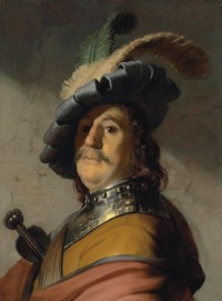 A man in a gorget and cap