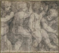 Putti dancing with hoops: a cartoon for the Cathedral in Parma