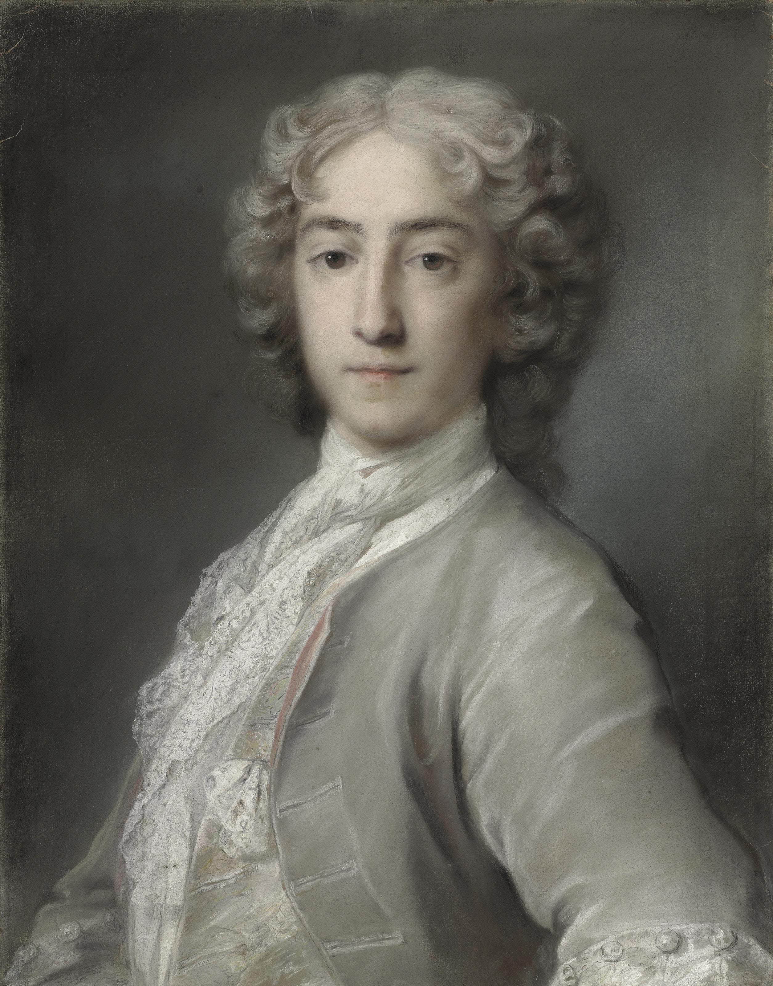 Portrait of Lord Sidney Beauclerk (1703-1744), half-length, in a grey velvet coat and white stock