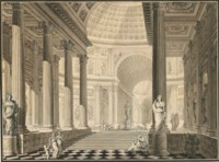 An architectural capriccio with vaulted ceilings
