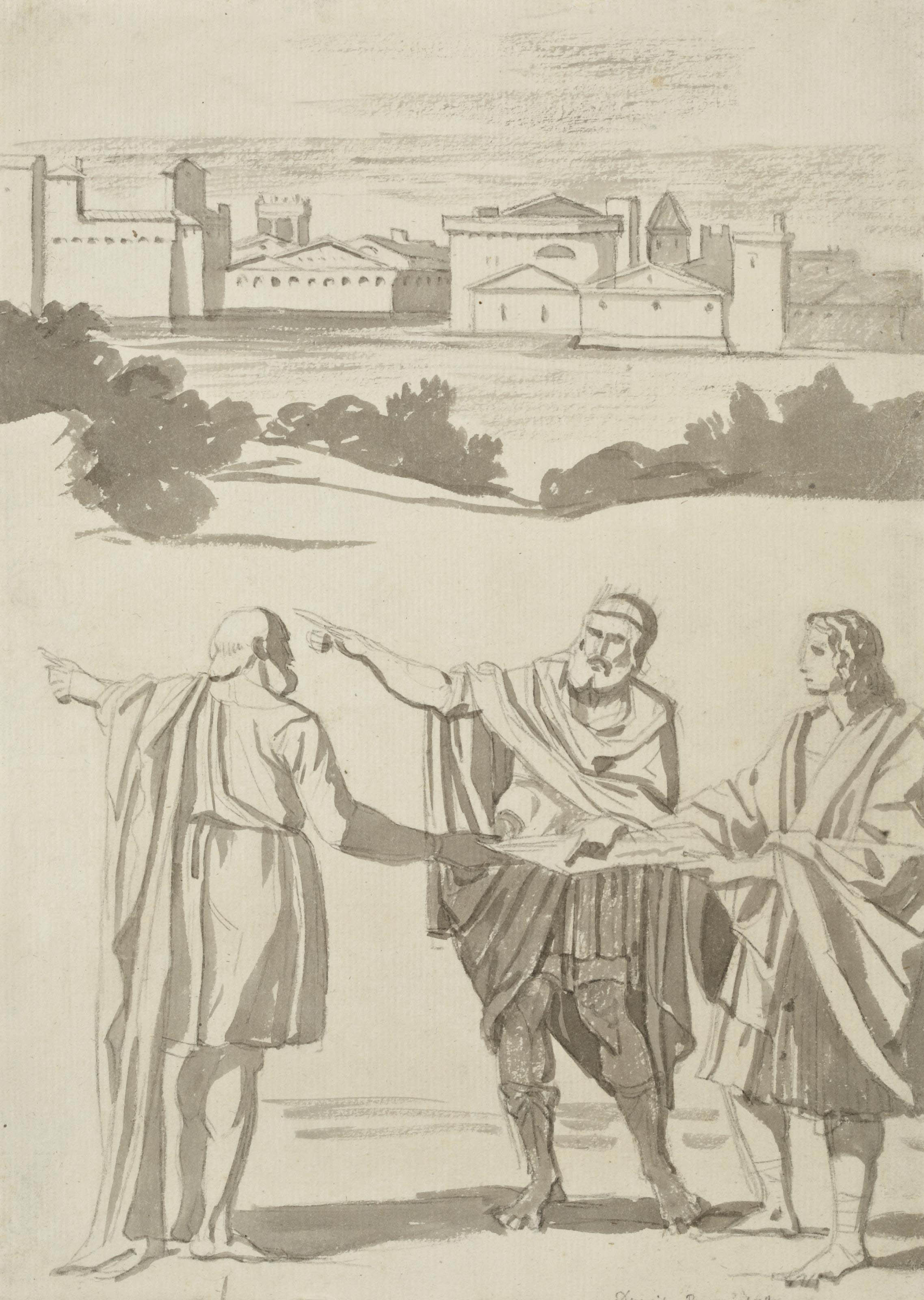 Apollo and Neptune advising Laomedon, after Domenichino
