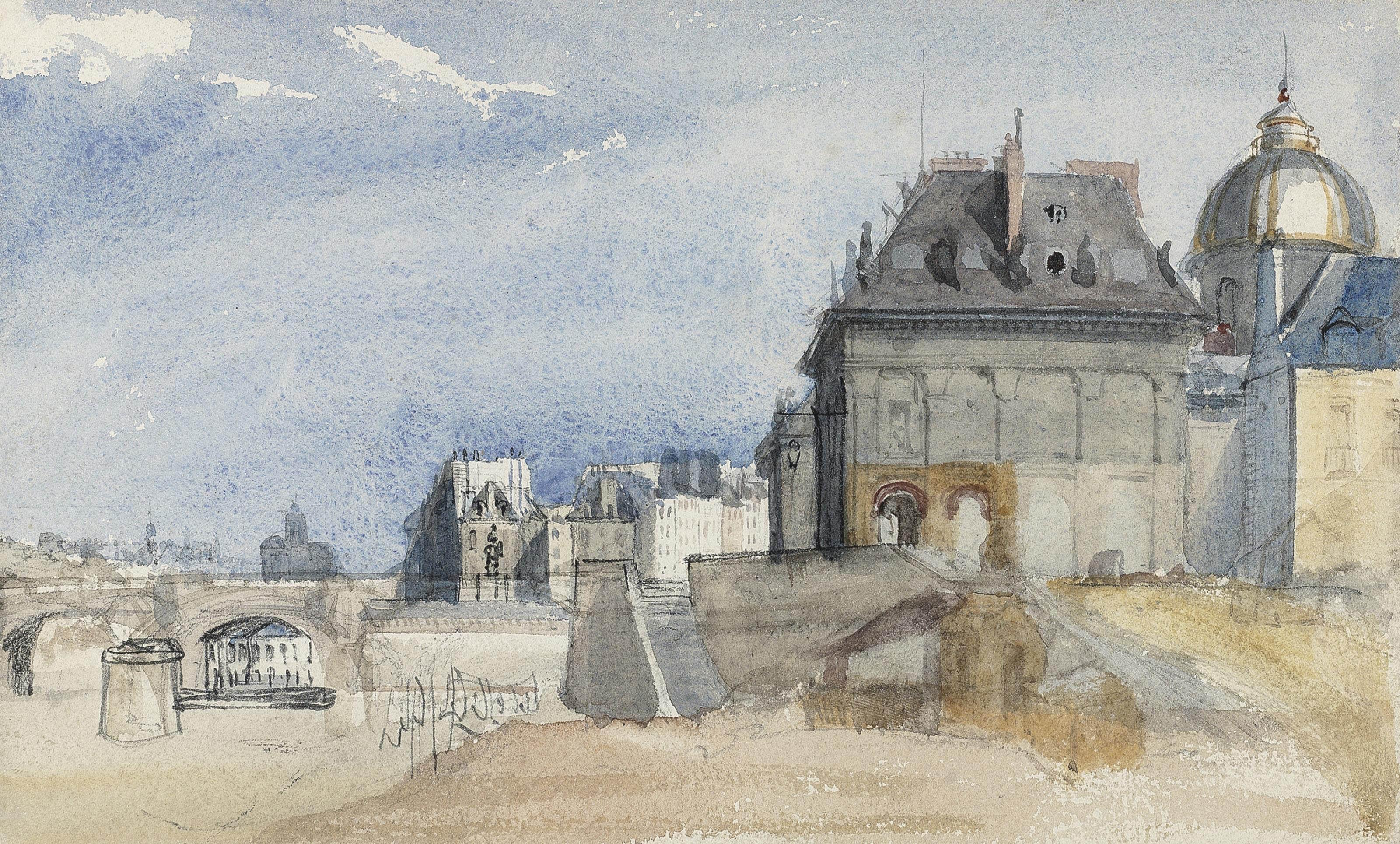 L'Institut de France on the Seine, Nôtre Dame beyond, Paris
