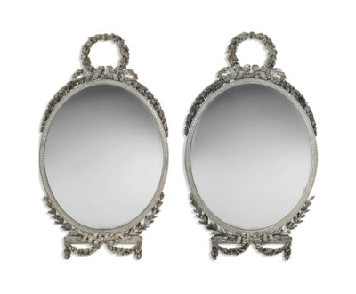A PAIR OF GEORGE III SILVERED