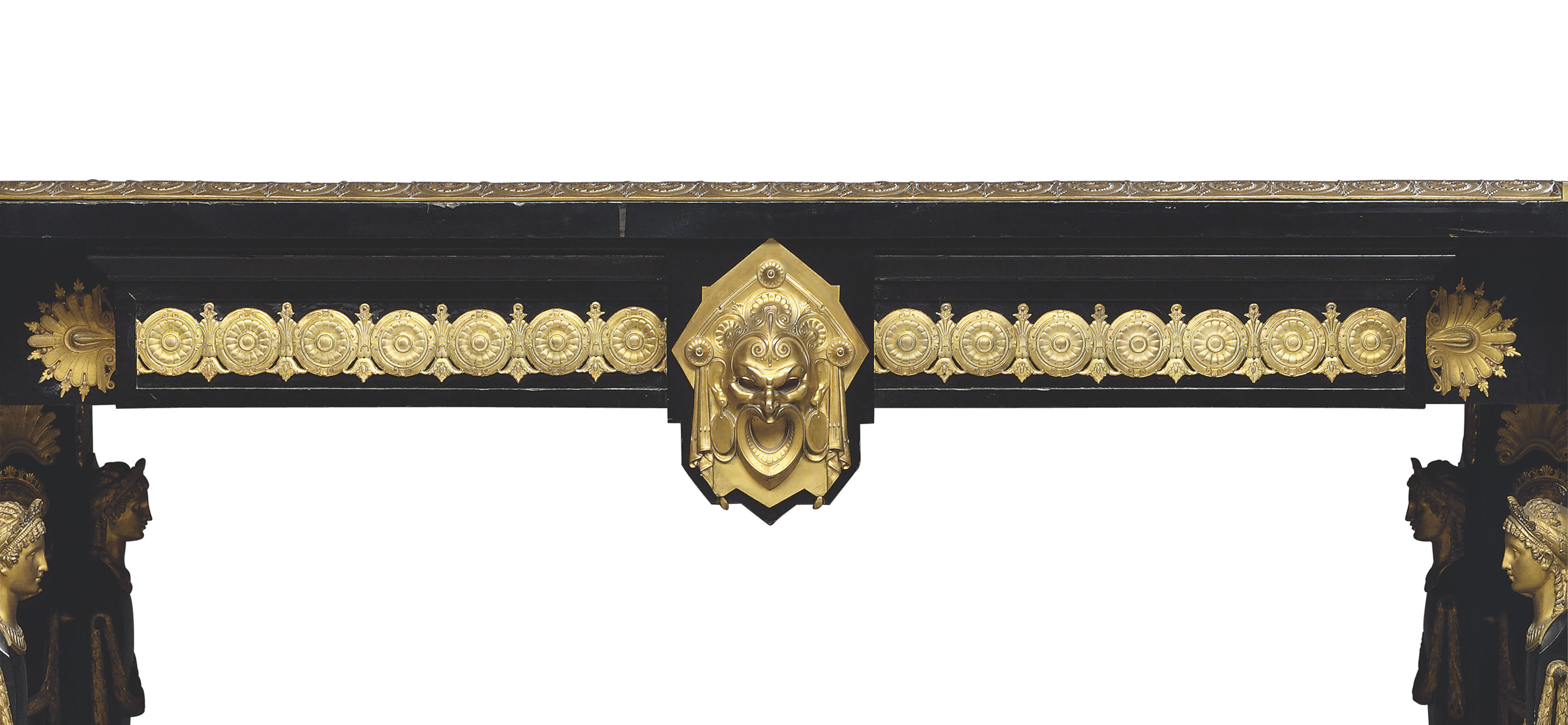 AN IMPORTANT NAPOLEON III ORMOLU AND GILT-COPPER-MOUNTED EBONY AND SYCAMORE MARQUETRY CENTRE TABLE