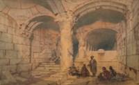 The interior of the Al-Aqsa Mosque, Jerusalem