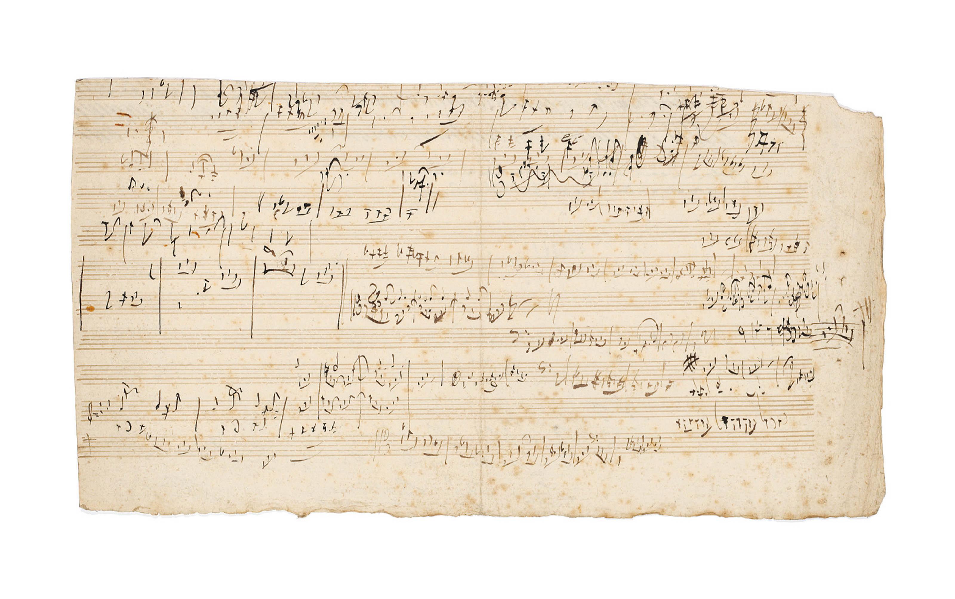 Audio: Autograph Music Manuscript by Ludwig van Beethoven