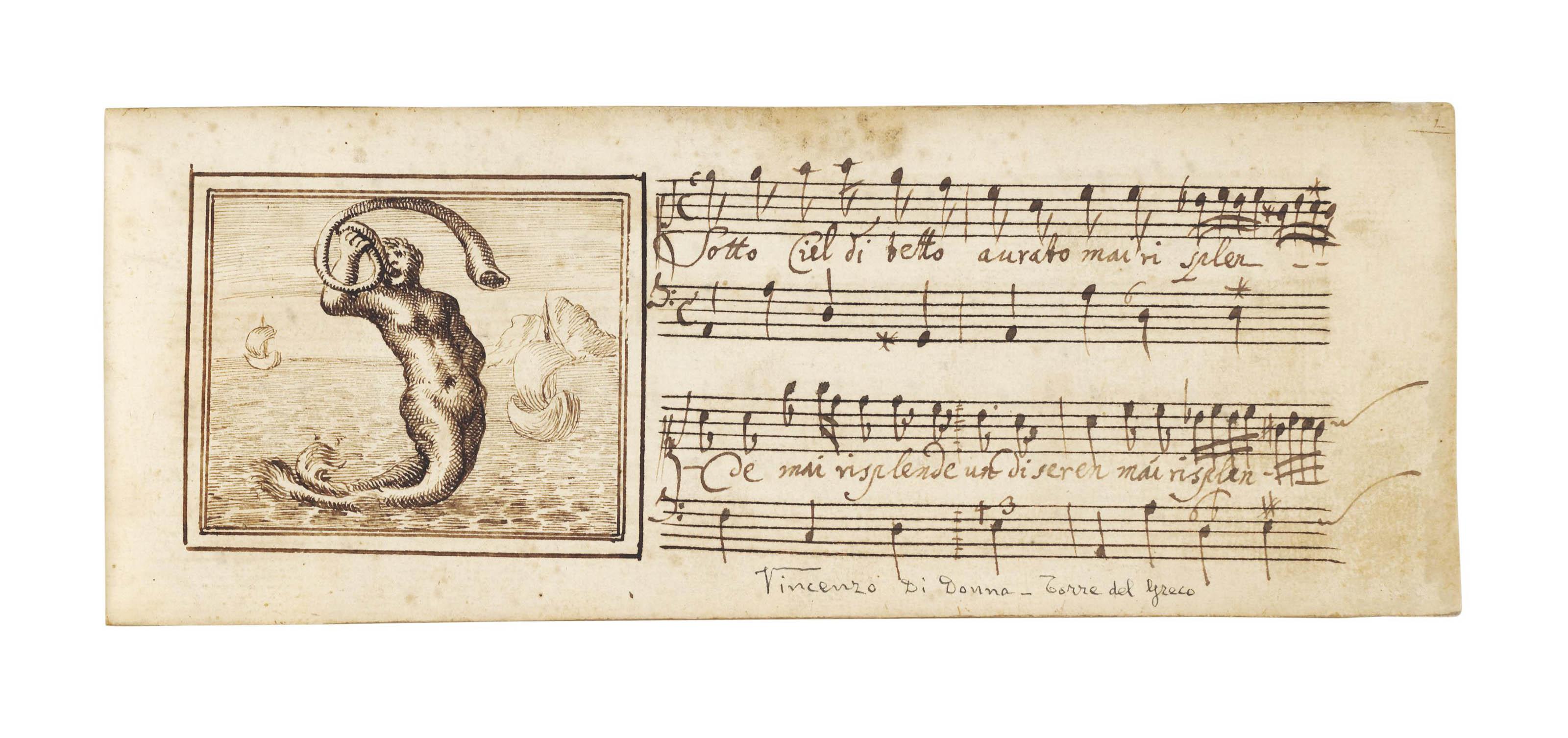 MUSIC. Manuscript of 35 canzon