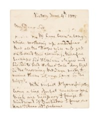 NELSON, Horatio, Viscount (1758-1805). Autograph letter signed ('Nelson & Bronte') to Rear Admiral [Sir Alexander Inglis] Cochrane, Victory, 4 June 1805, 3 pages, 4to, bifolium, dockets (minor damp-staining). Provenance: Phillips, 24 October 1985, lot 468.