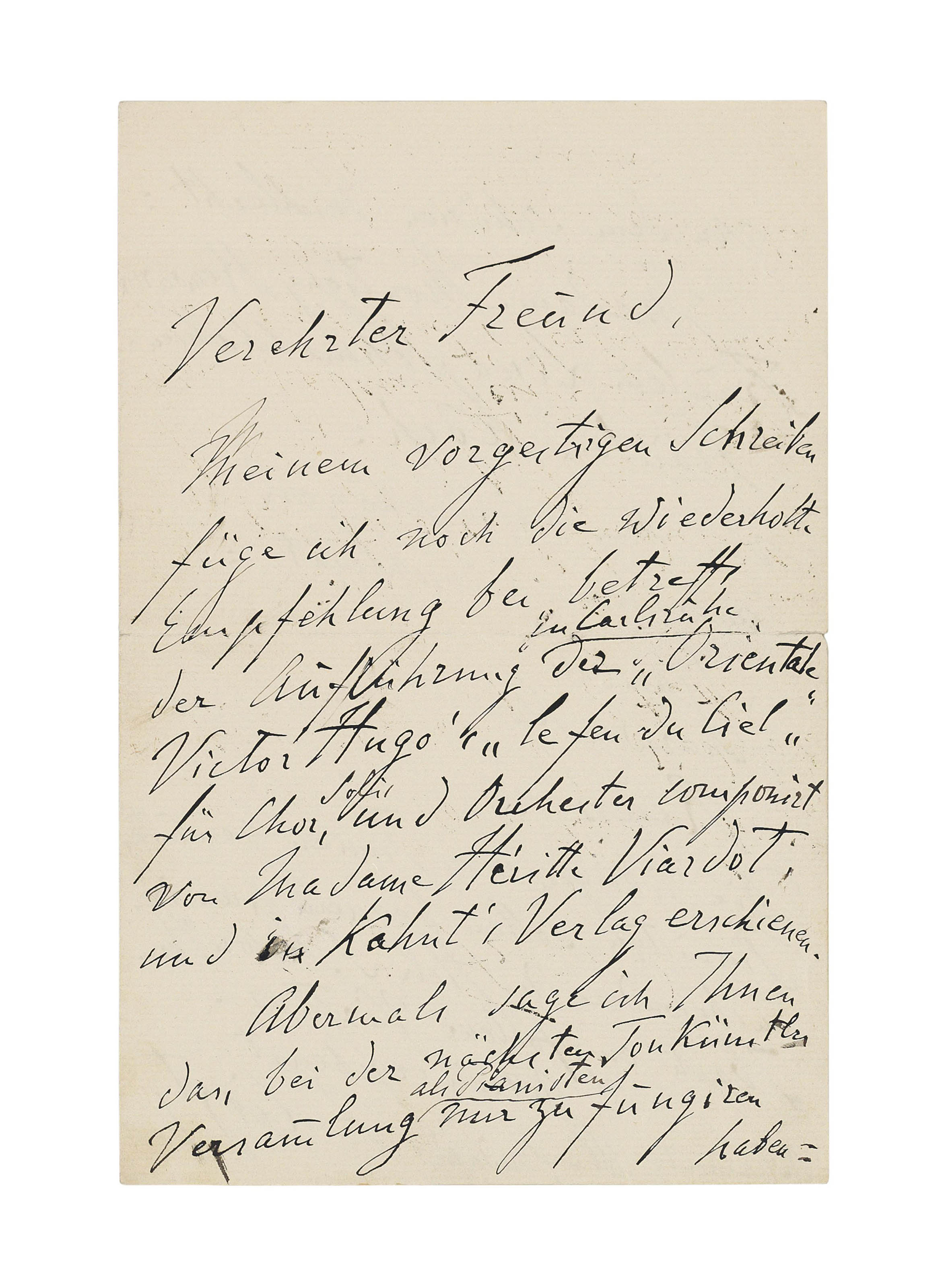 LISZT, Franz (1811-1886). Two