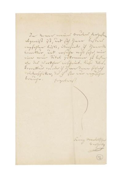 MENDELSSOHN BARTHOLDY, Fanny (