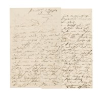 SCHUMANN, Clara (1819-1896), Autograph letter signed to the baritone Julius Christian Stockhausen, St Petersburg, 17/29 March 1864, 6 pages, 8vo. Provenance: Stargardt, 3 May 1957, catalogue 532, lot 310.