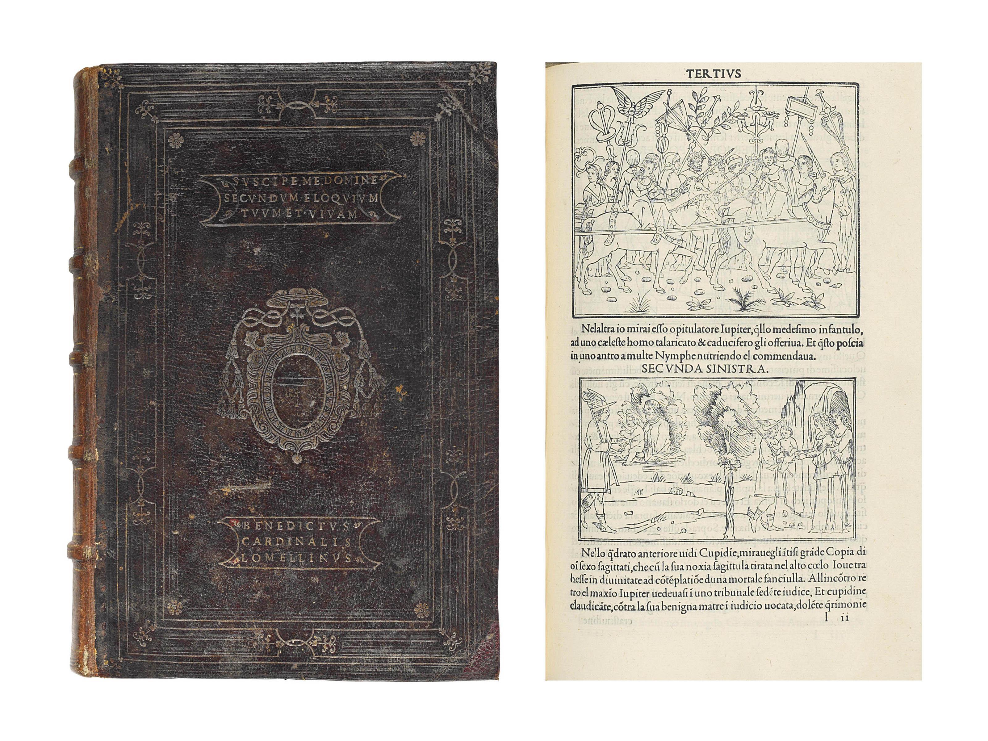 [COLONNA, Francesco (1433-1527)]. Hypnerotomachia Poliphili, in Italian. Venice: Aldus Manutius for Leonardus Crassus, December 1499.
