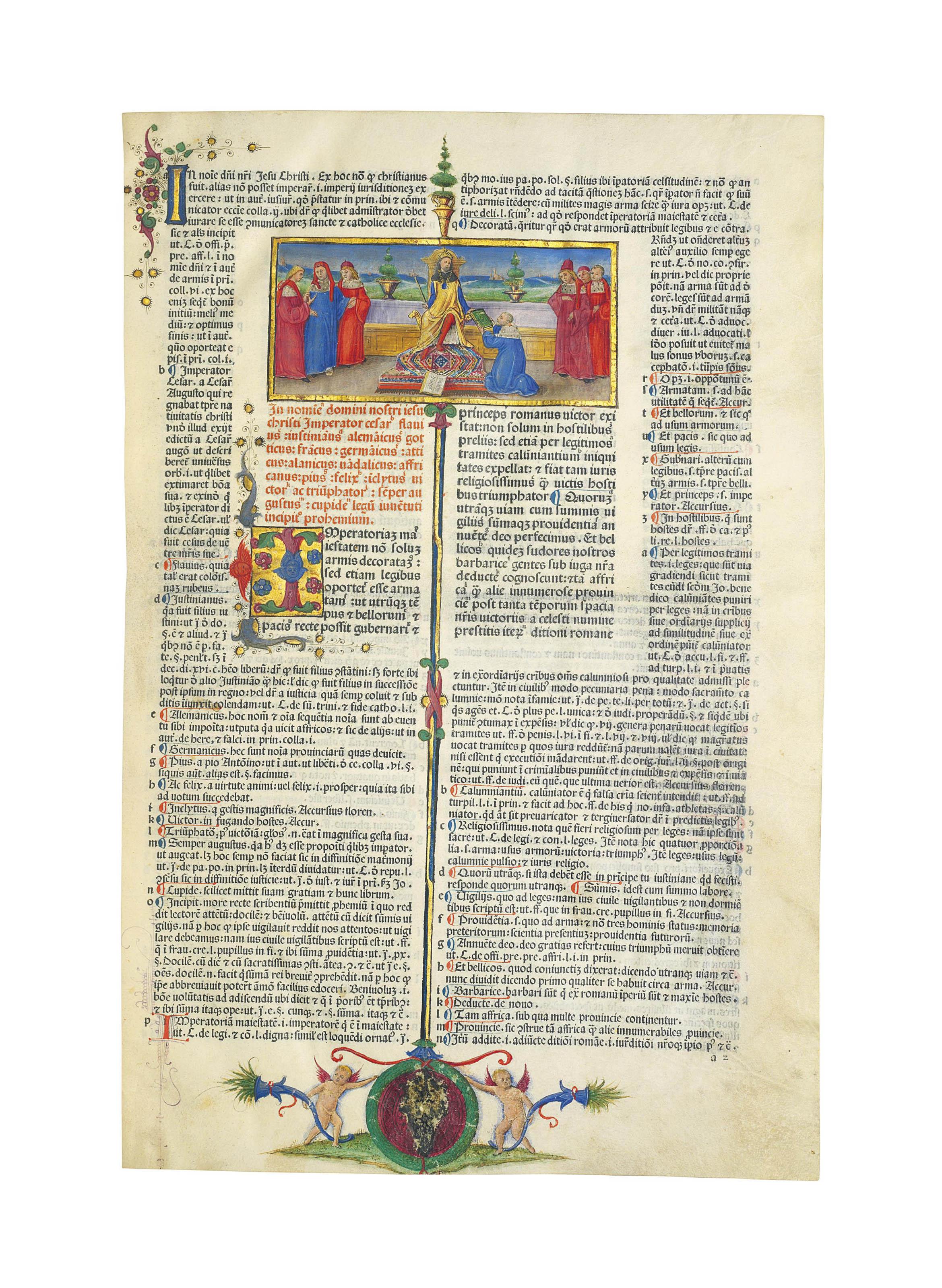 JUSTINIANUS (483-565). Institu