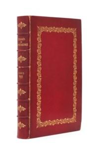 MONTAIGNE, Michel Eyquem de (1533-1592). Les essais de Michel seigneur de Montaigne. Edition nouvelle, trouvée après le décès de l'Autheur, reveue & augmentée par luy d'un tiers plus qu'aux précédentes impressions. Paris: Abel l'Angelier, 1595.