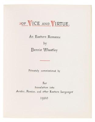 WHEATLEY, Dennis Yates (1897-1