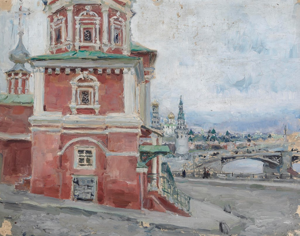 Maria Iakunchikova (1870-1902) A church in Moscow