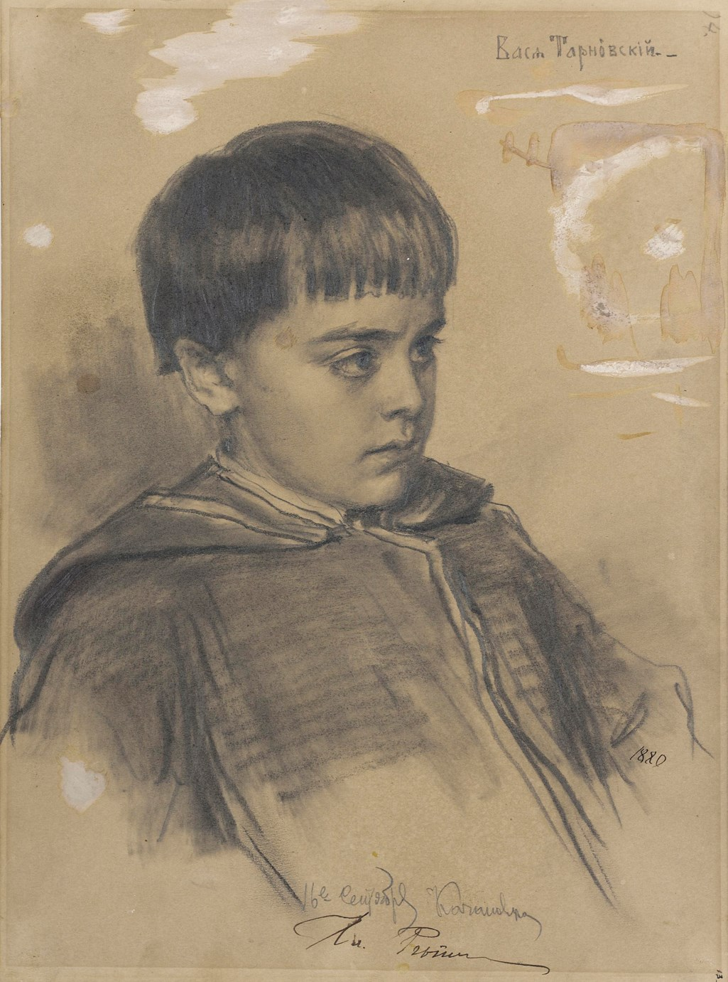 Ilya Repin (1844-1930) Portrait of Vasia Tarnovskii