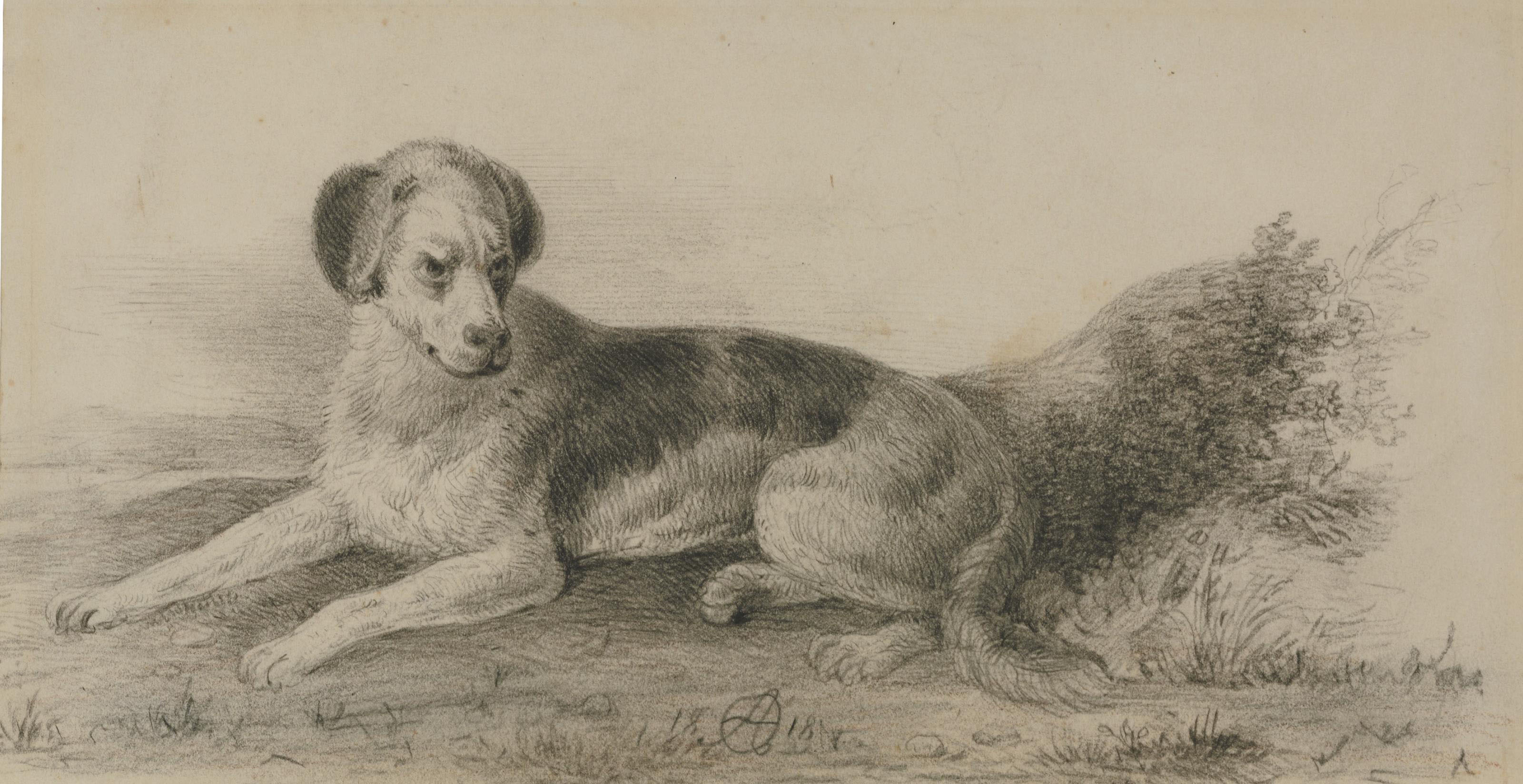 Reclining dog; and Circus scene