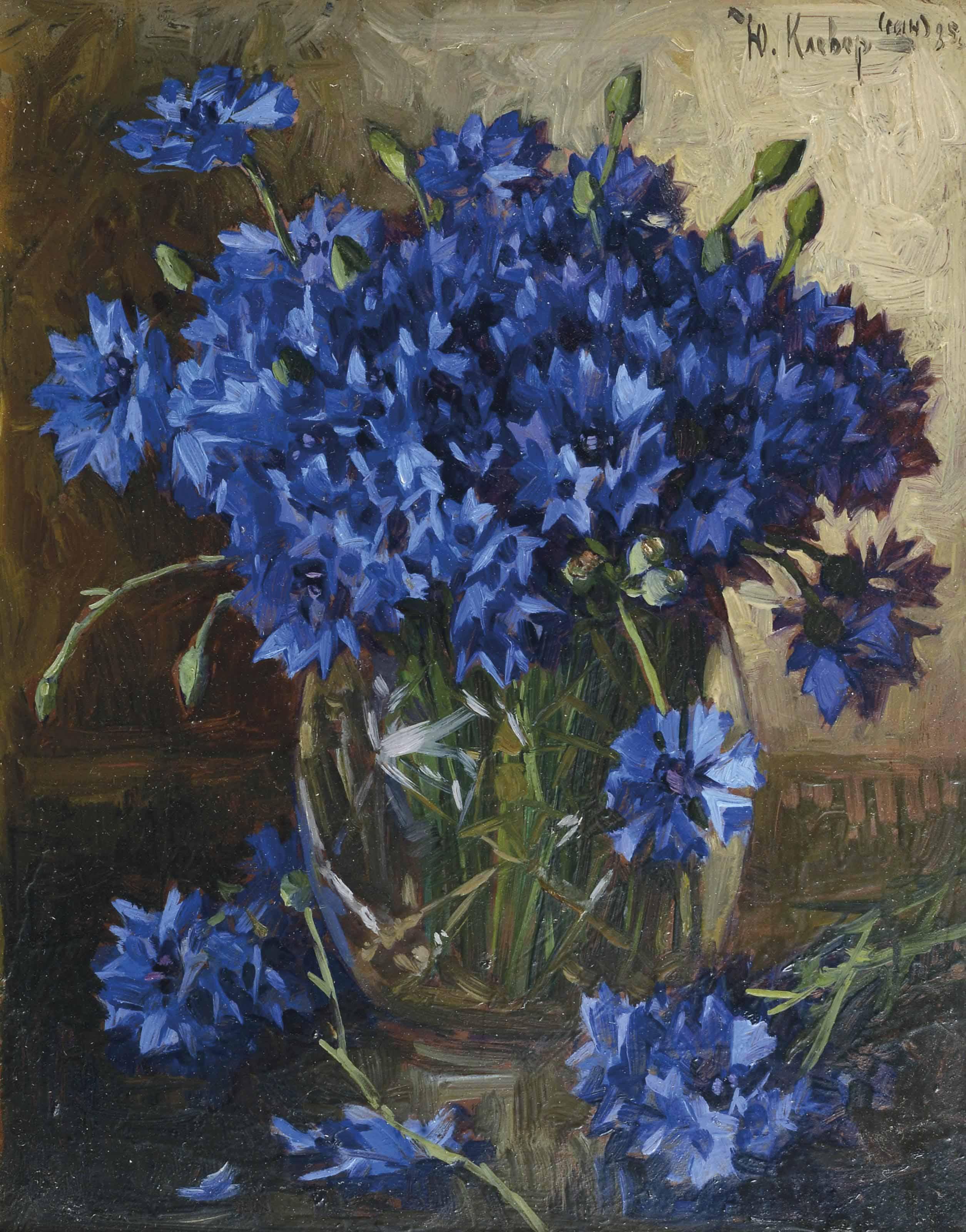 A bouquet of cornflowers