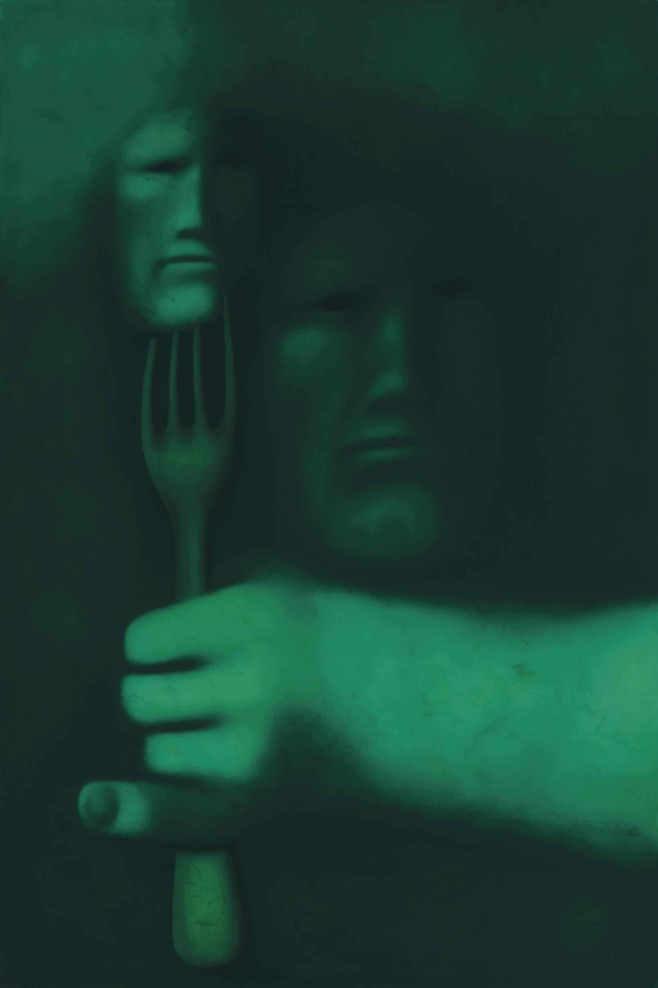 Person with fork