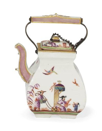 A MEISSEN CHINOISERIE TEA-KETT