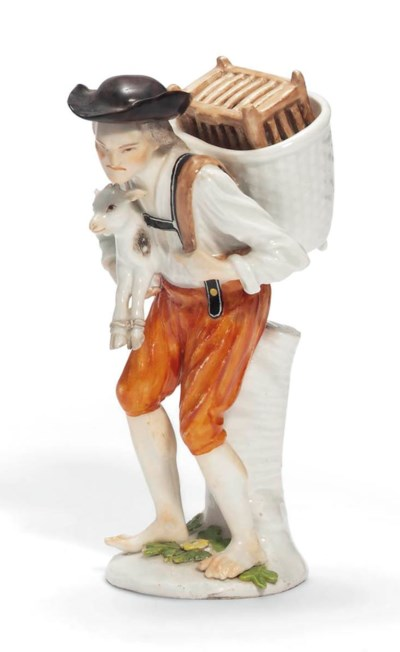 A MEISSEN FIGURE OF A PEASANT