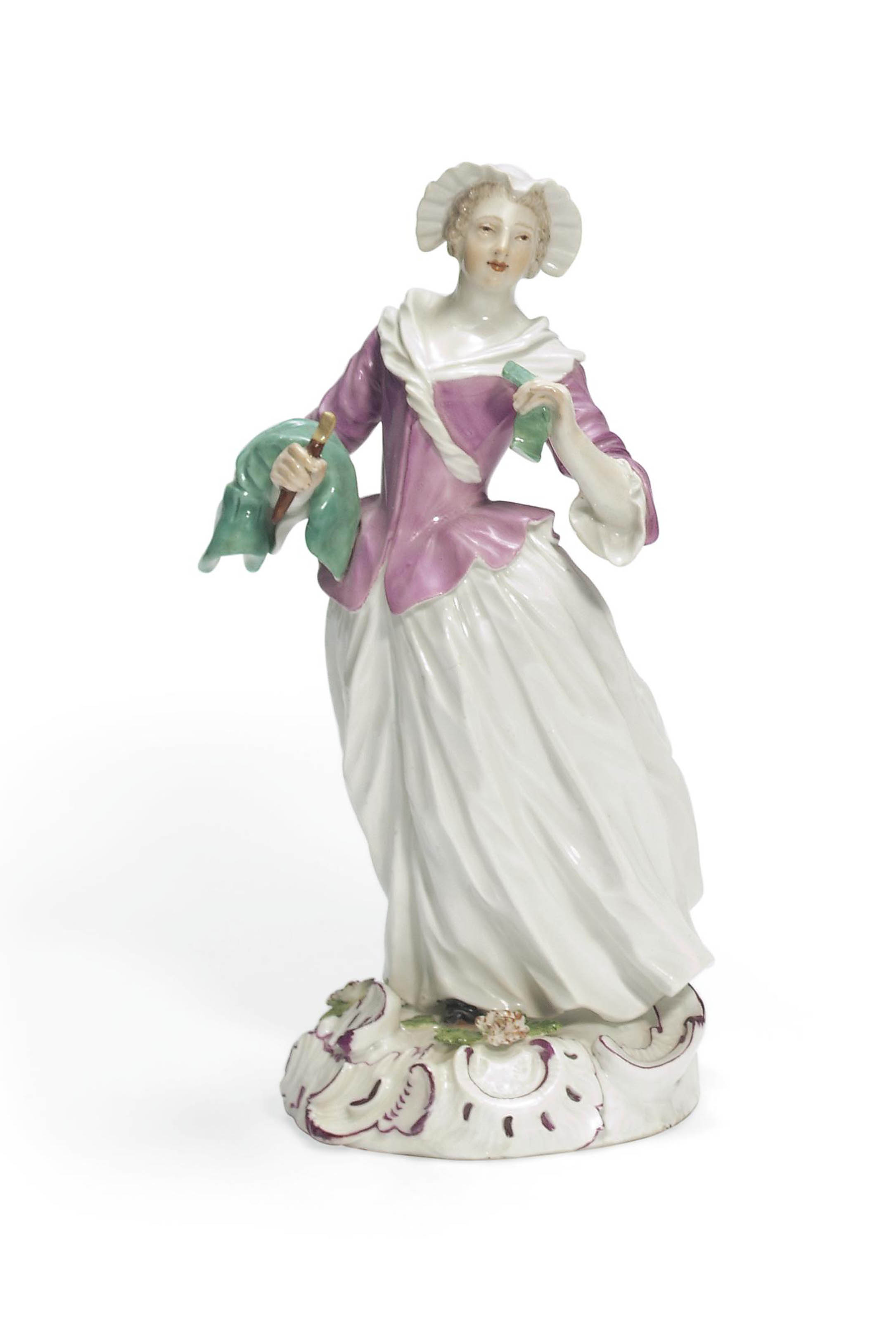 A MEISSEN FIGURE OF A SEAMSTRESS FROM THE ARTISAN SERIES