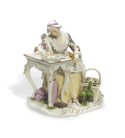 A MEISSEN FIGURE OF THE GOOD H
