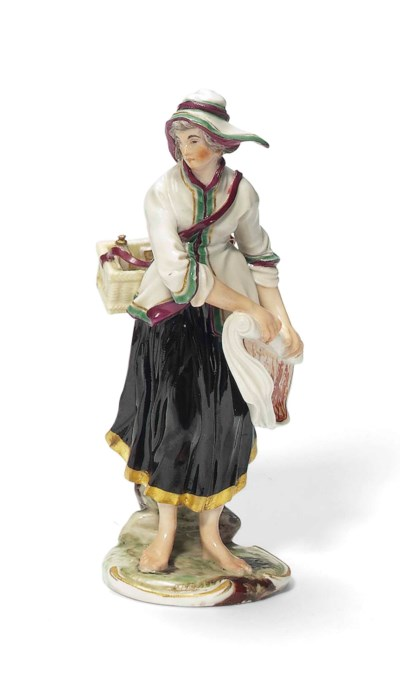 A LUDWIGSBURG FIGURE OF A PRIN