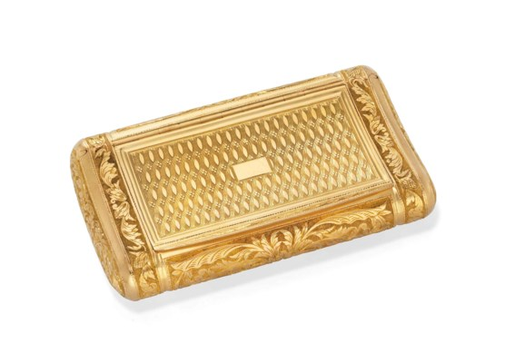 AN ITALIAN GOLD SNUFF-BOX