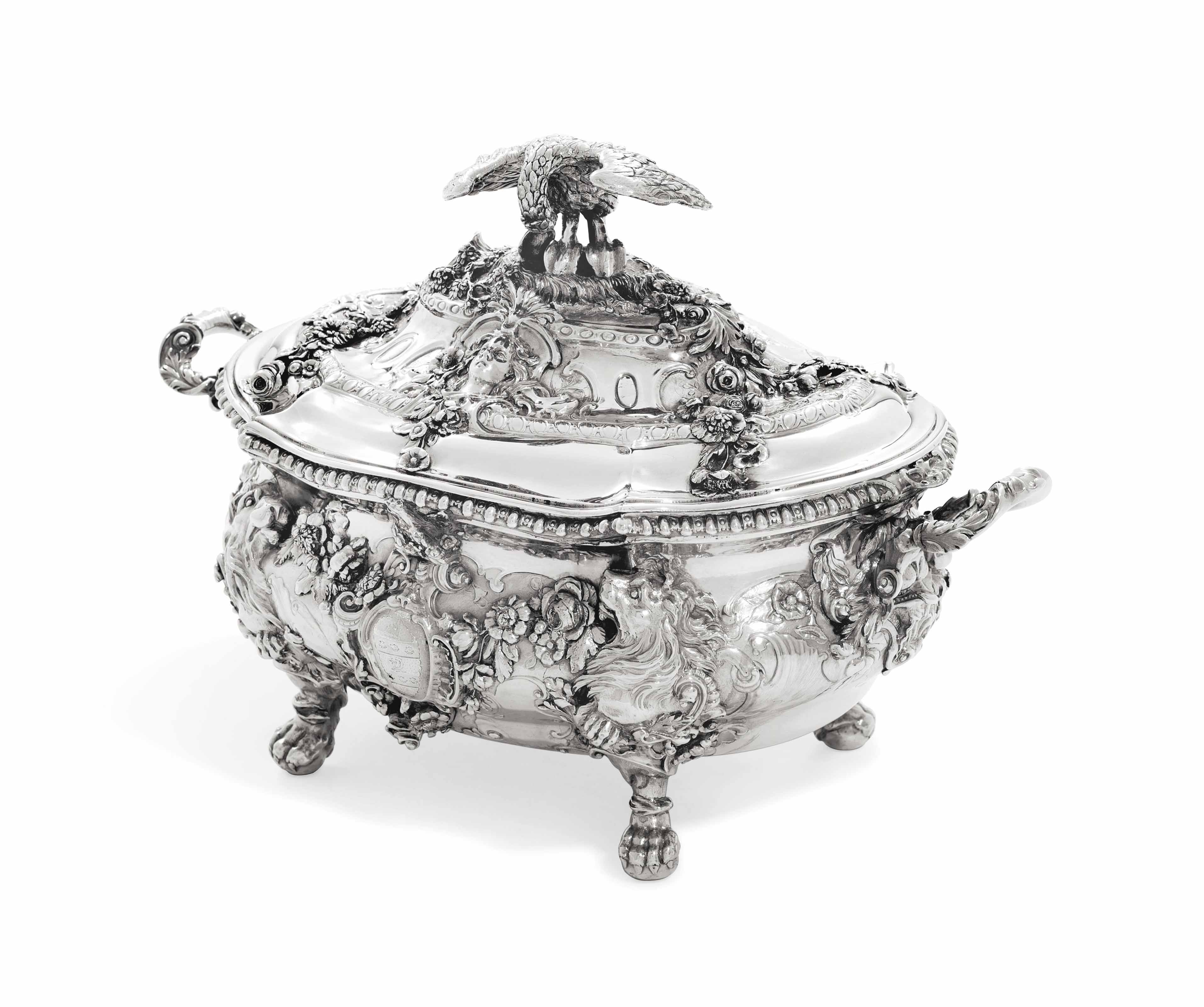A GEORGE II SILVER SOUP-TUREEN