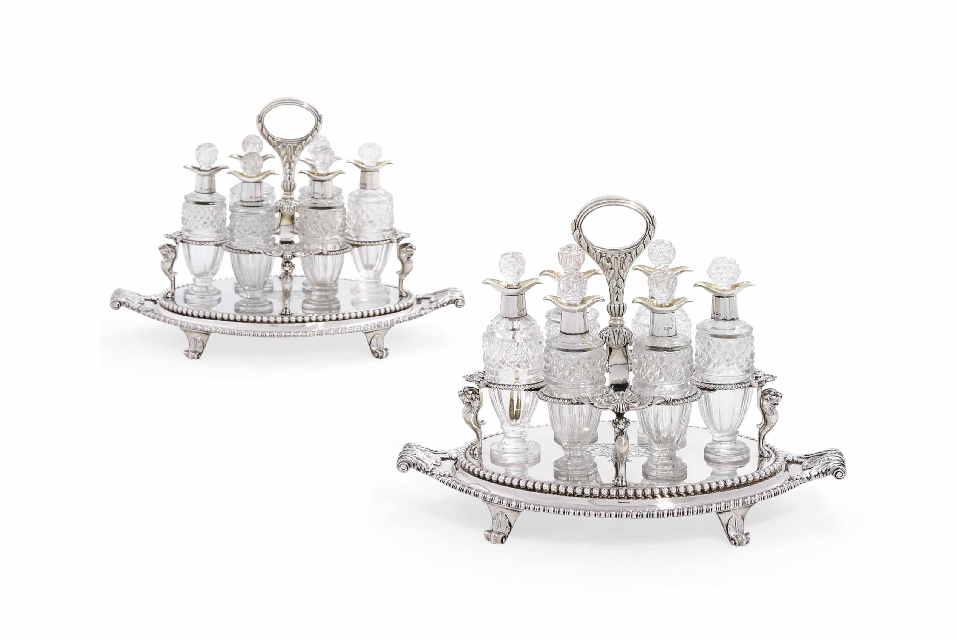 A PAIR OF GEORGE III SILVER CR