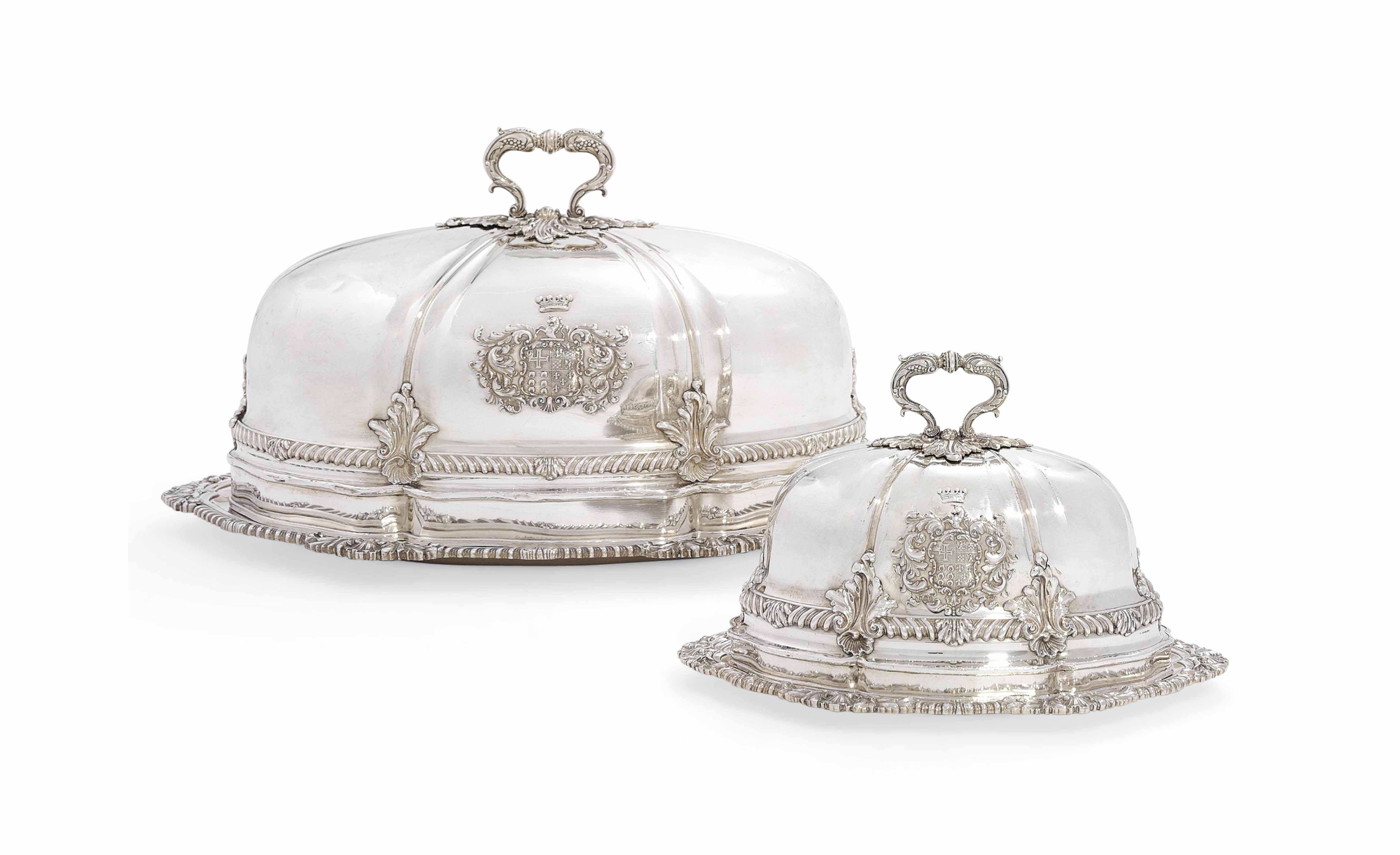 A GEORGE IV SILVER MEAT-DISH A