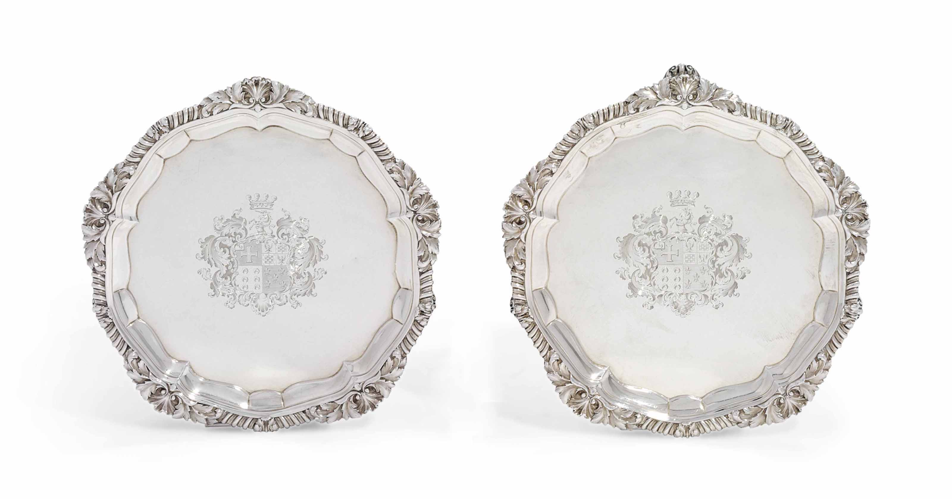 A PAIR OF GEORGE IV SILVER WAI