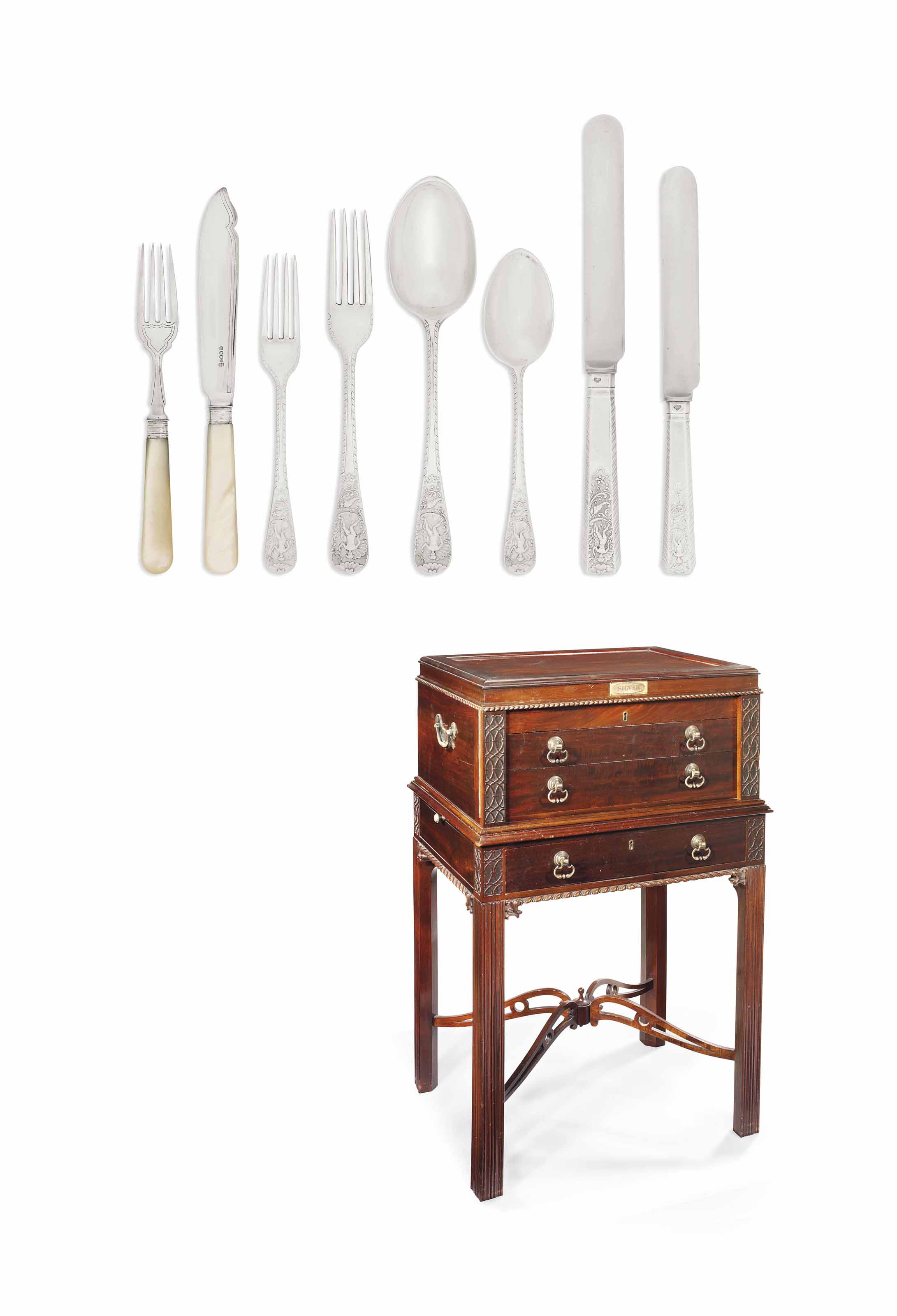 A VICTORIAN AND LATER SILVER TABLE-SERVICE