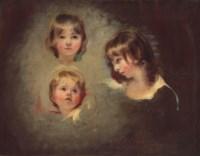 Head studies of Emilia Mary, Juliana and Maria Boucherett