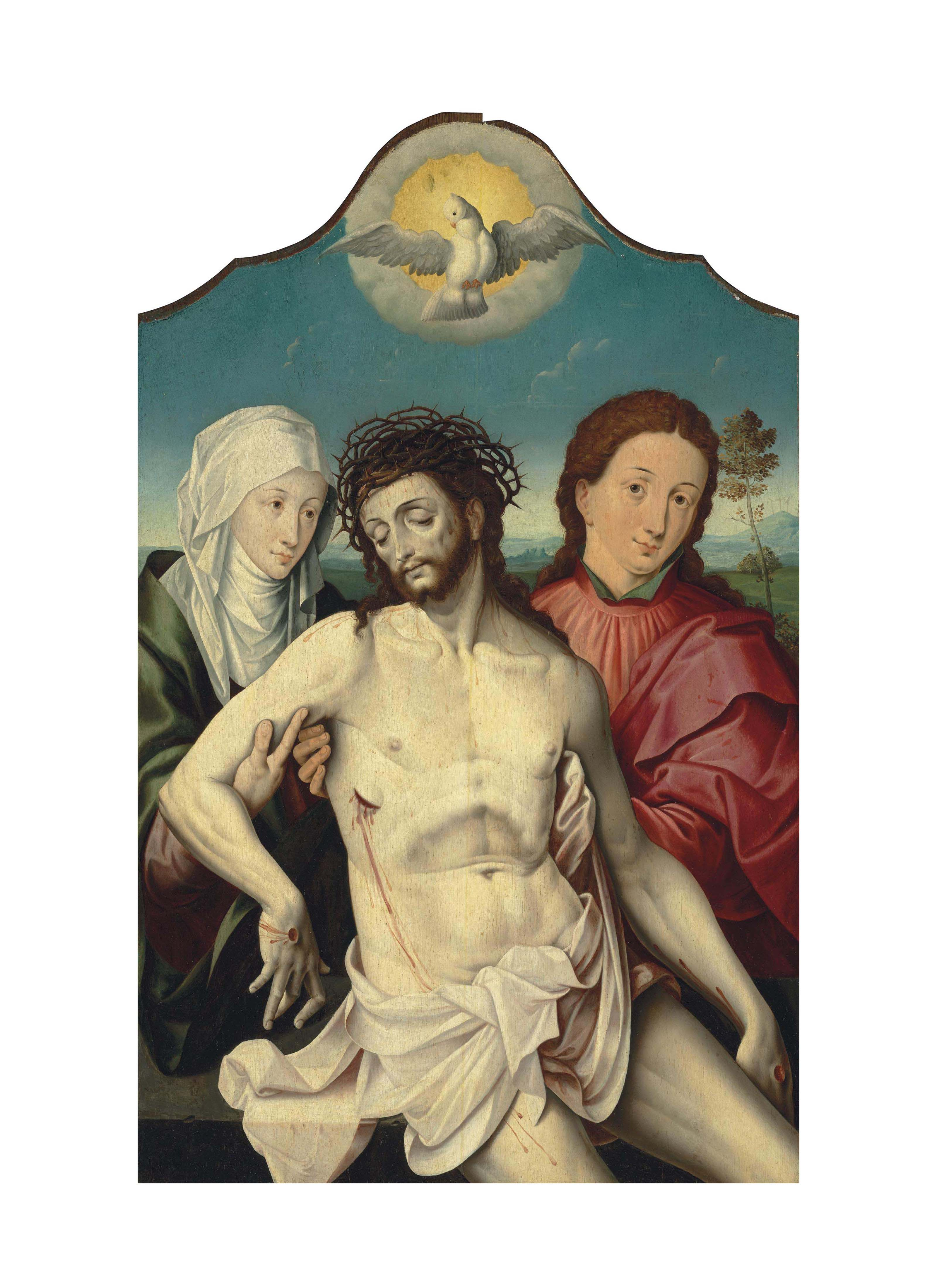 The Dead Christ supported by the Virgin and Saint John the Evangelist