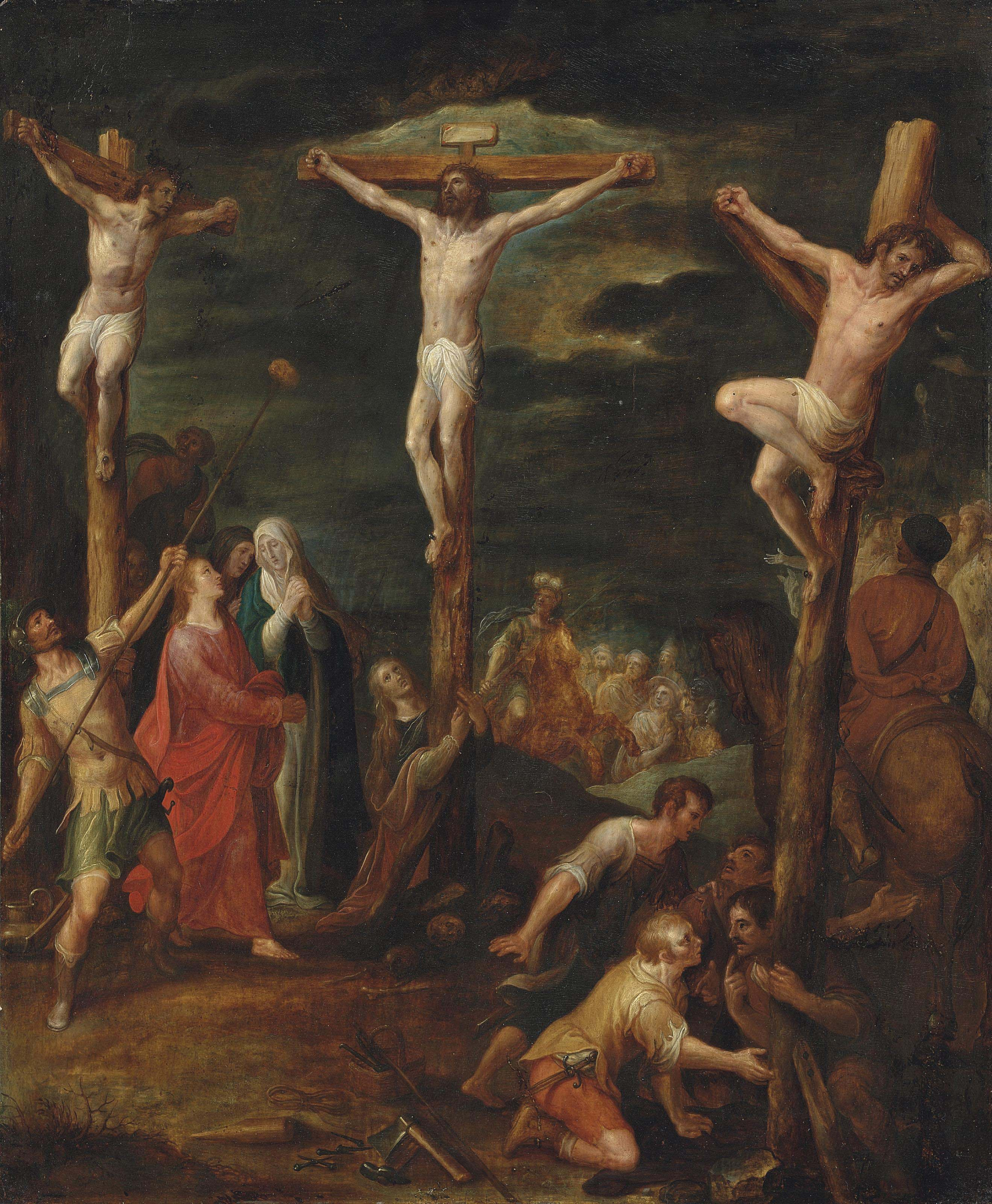 The Crucifixion with the two thieves