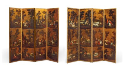 A PAIR OF DUTCH POLYCHROME AND