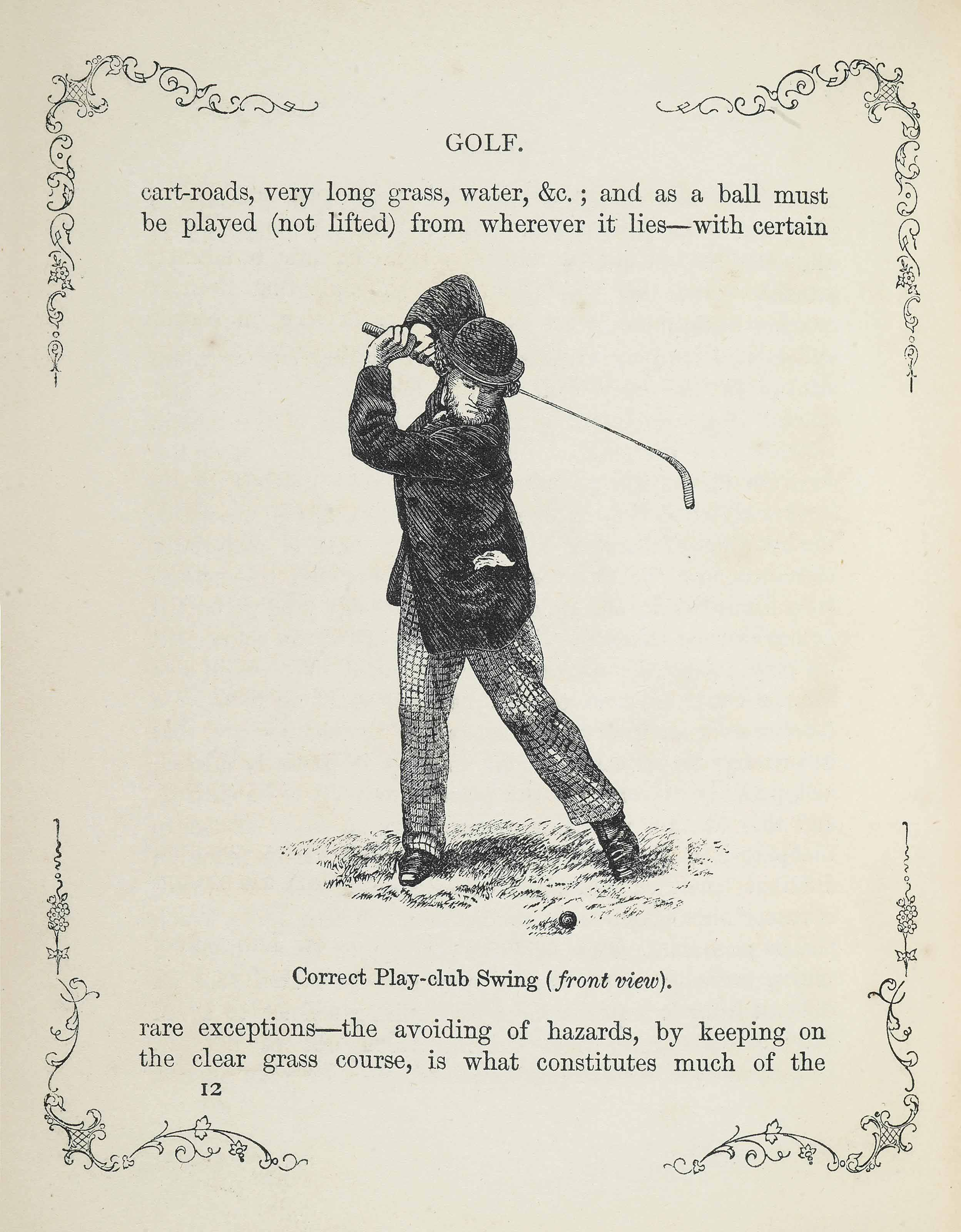 CHAMBERS, ROBERT. A FEW RAMBLING REMARKS ON GOLF, WITH THE RULES AS LAID DOWN BY THE ROYAL AND ANCIENT CLUB OF ST. ANDREWS. LONDON AND EDINBURGH: W. AND R. CHAMBERS, 1862.