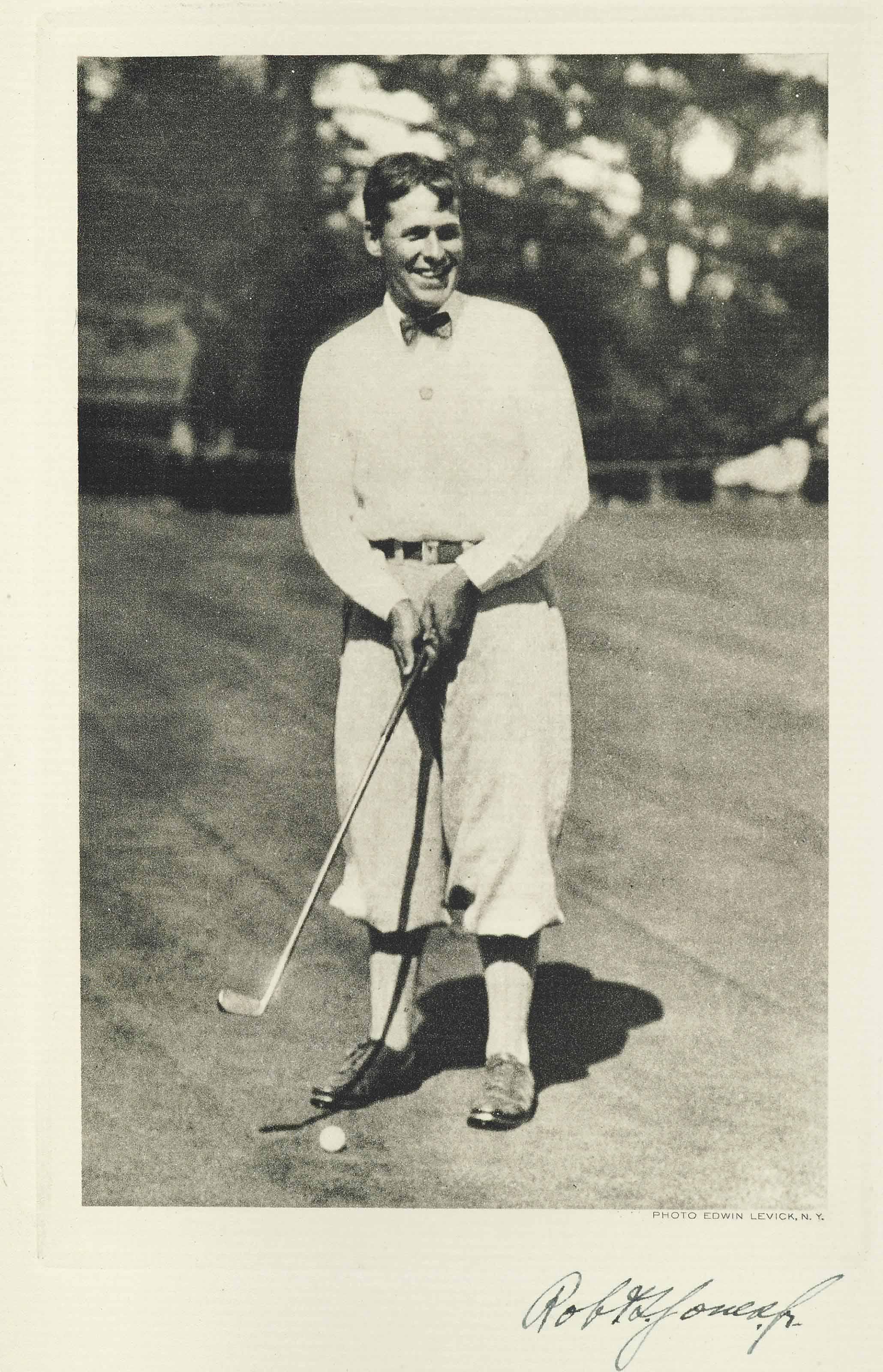 JONES, ROBERT TYRE ('BOBBY') & O.B. KEELER. DOWN THE FAIRWAY. THE GOLF LIFE AND PLAY OF ROBERT T. JONES, JR. NEW YORK: MINTON, BALCH, 1927.