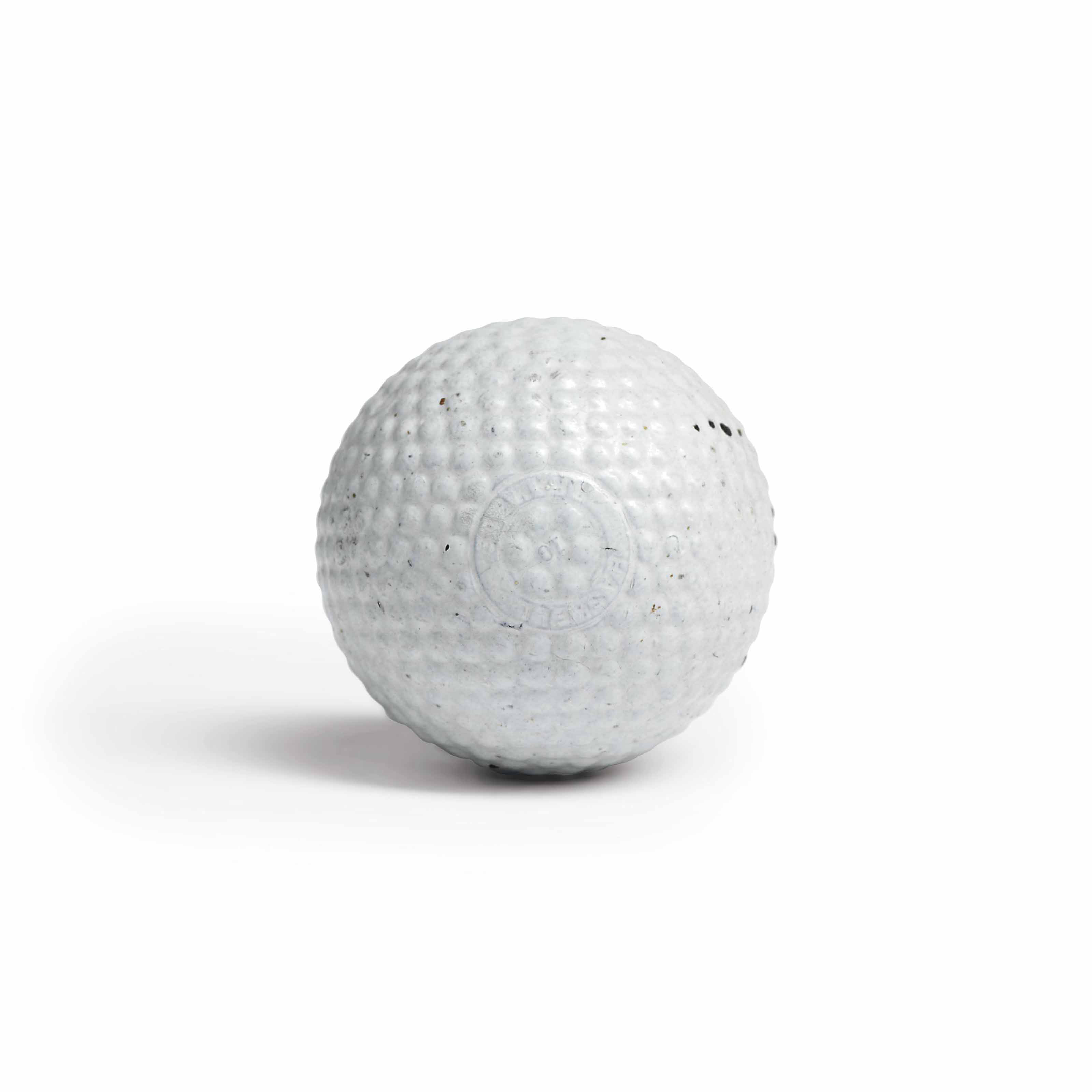 A HASKELL-PATENT BRAMBLE PATTERN GUTTY BALL