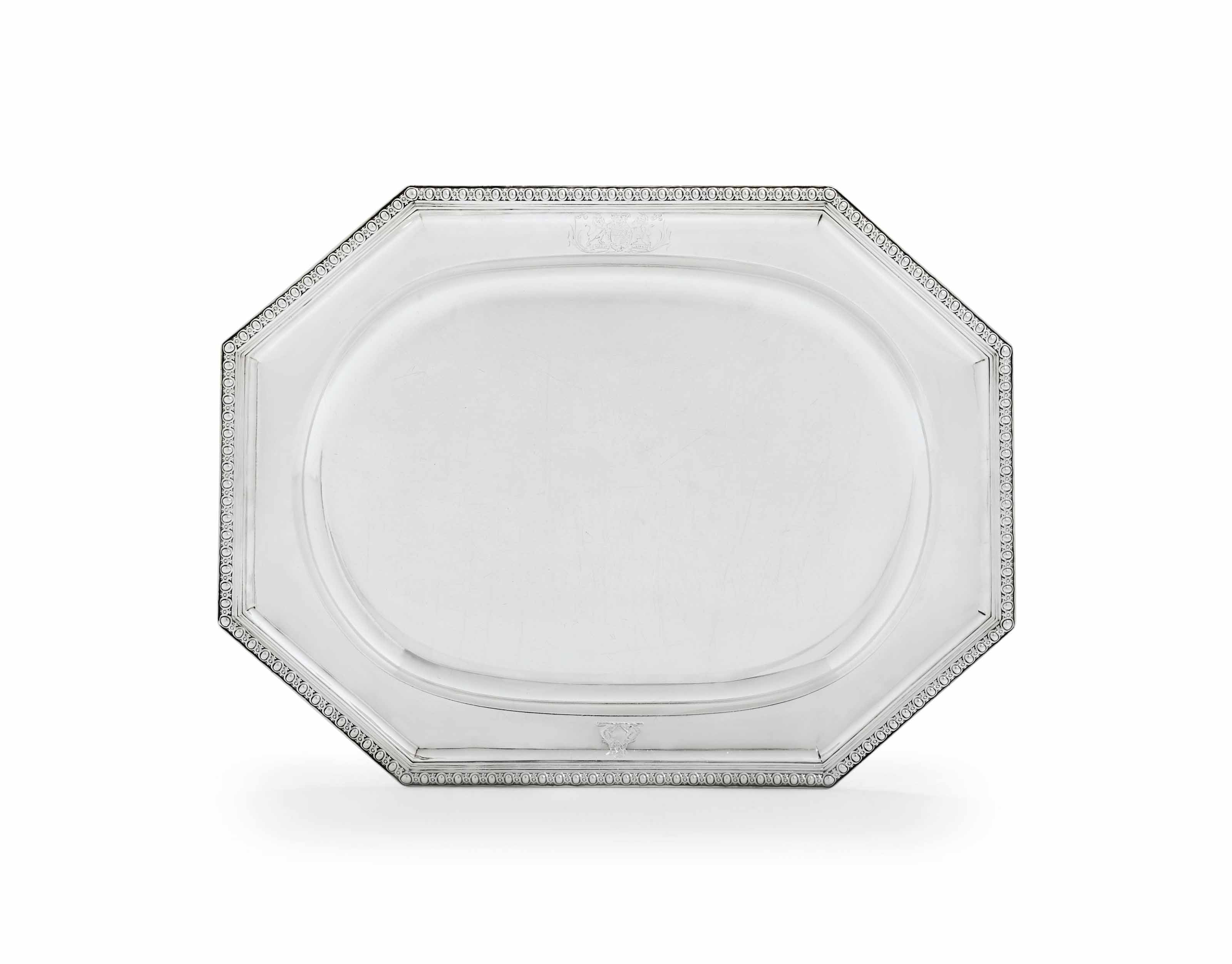 A VICTORIAN SILVER MEAT-DISH F