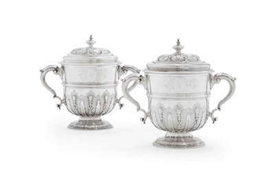 A PAIR OF GEORGE II SILVER CUP