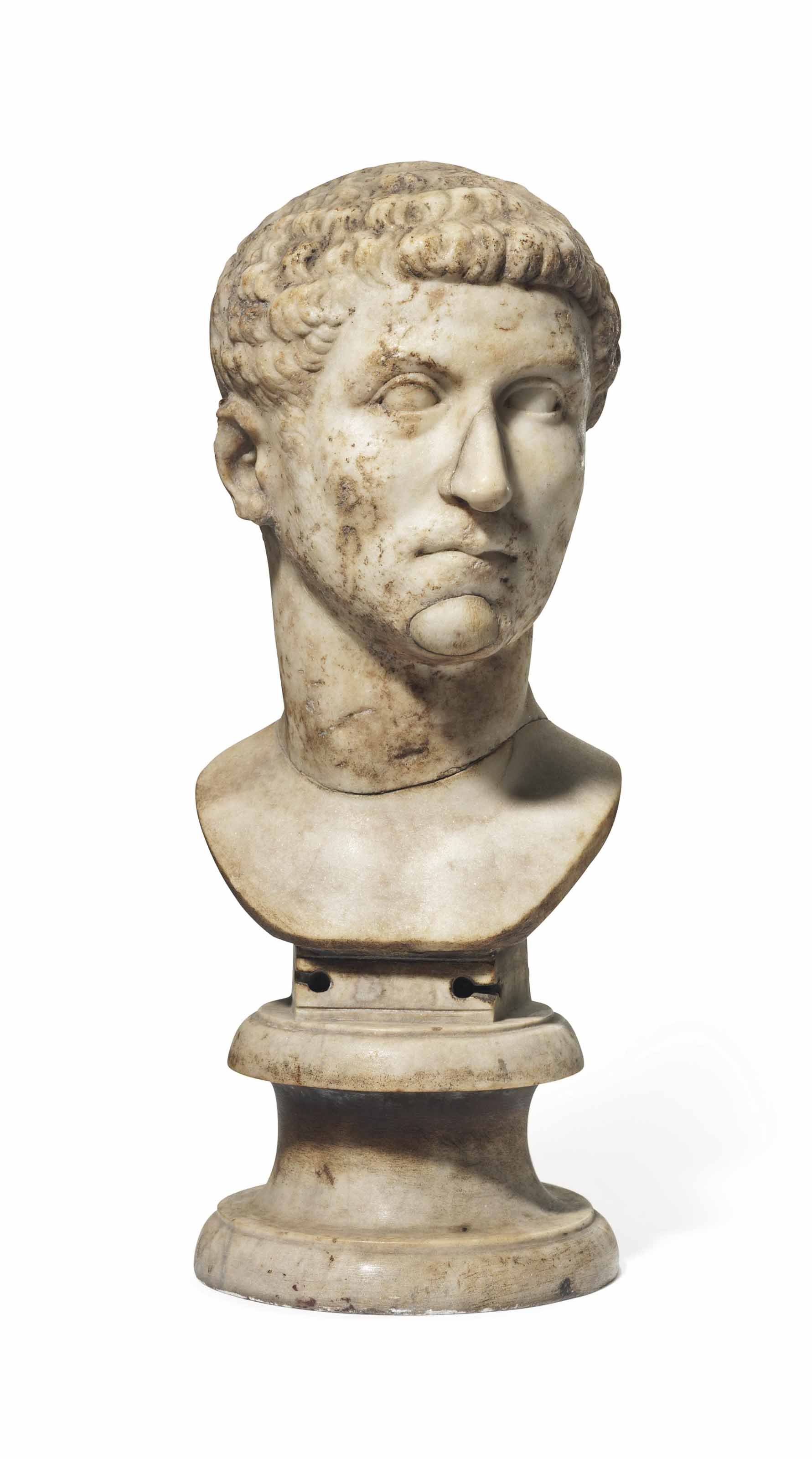 A Roman Marble Bust of a Young