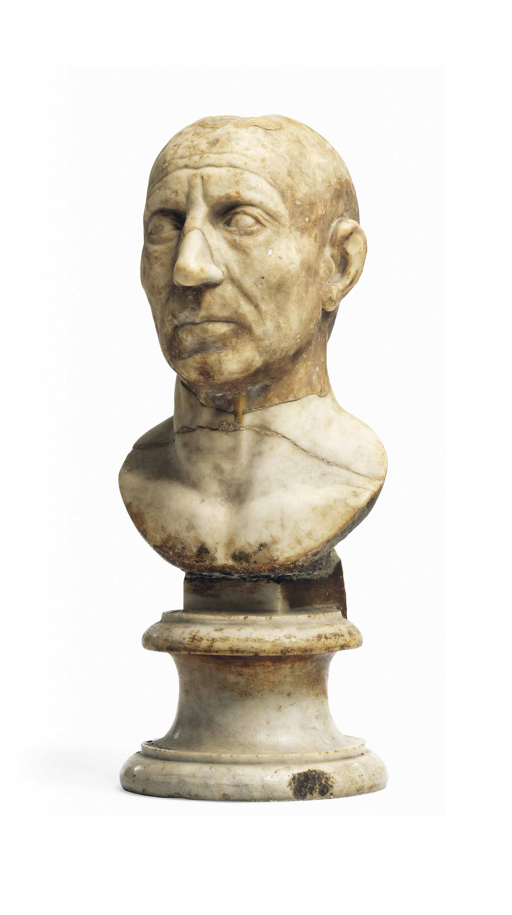 A Roman Marble Bust of an Old