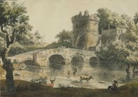 The Ponte Lucano and the Tomb of the Plautii, Rome