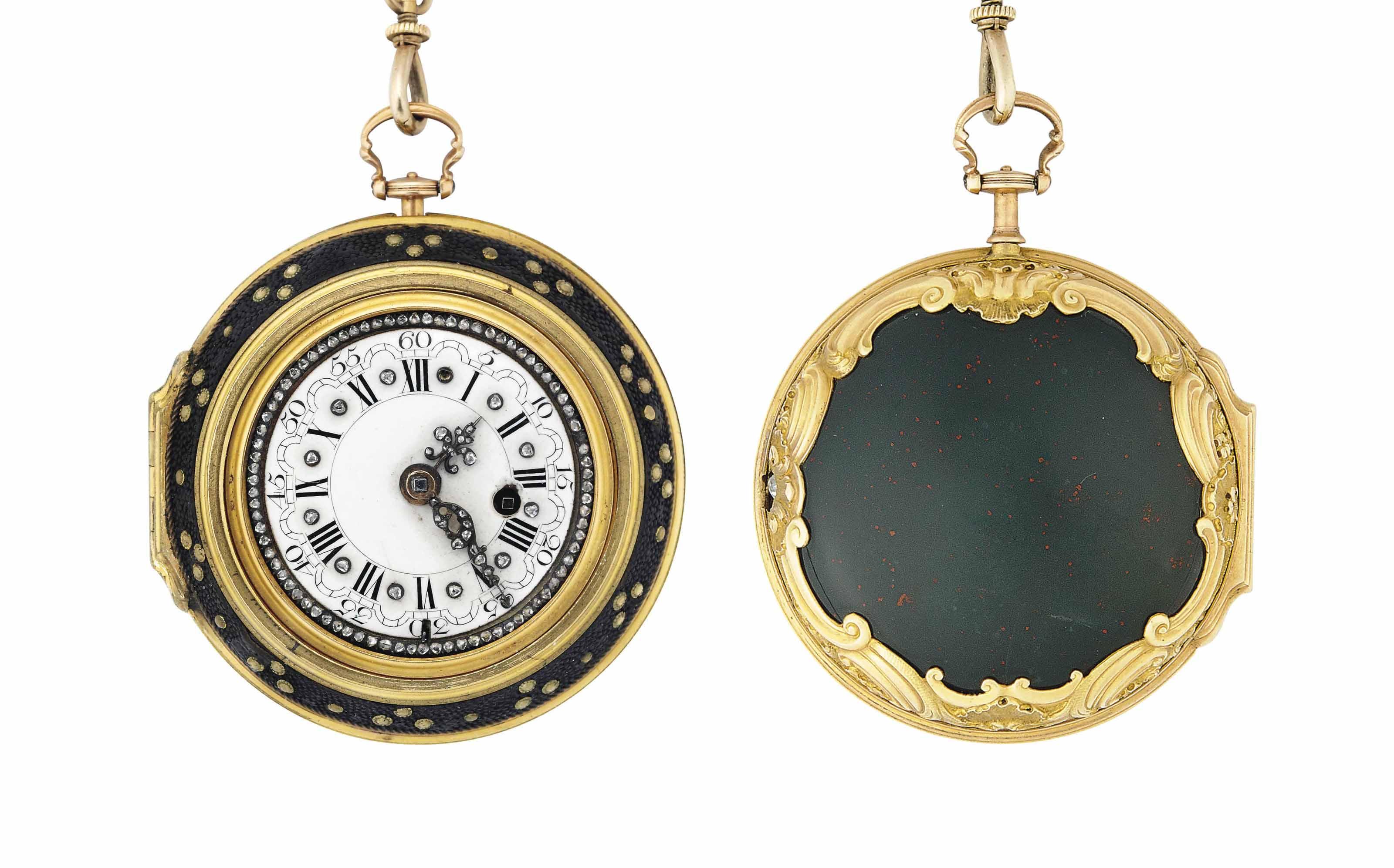 An 18th century gold, diamond